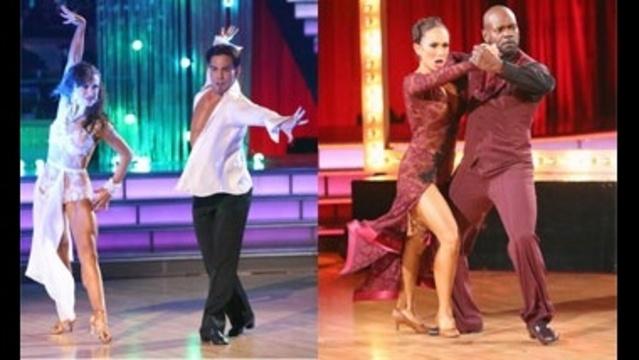 Karina Smirnoff & Apolo Ohno and Cheryl Burke & Emmitt Smith perform in the semi-finals on