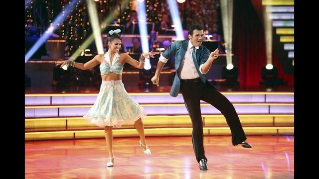 Melissa Rycroft & Tony Dovolani perform a jive on the second week of