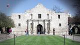 Alamo tour guide spots vandal taking car key to wall