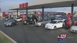 Drivers willing to wait at pumps for cheap gas