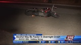 Motorcyclist crashes after leaving bar