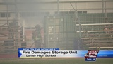 Fire burns storage unit at Lanier High School