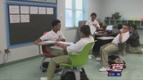 All-boys public school using mobile-desk teaching technique