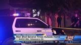 Man shot 7 times outside his home