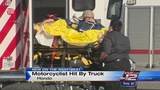 Hondo motorcyclist hospitalized after collision with truck