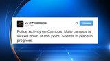 Community College of Philadelphia on lockdown