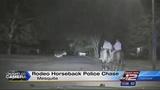 Caught on camera: Police chase on horseback