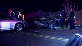Head-on crash sends 4 people to hospital