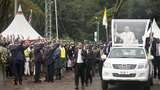Throngs attend Pope Francis