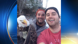 Canadian brothers rescue bald eagle, take memorable selfie (w/ video)