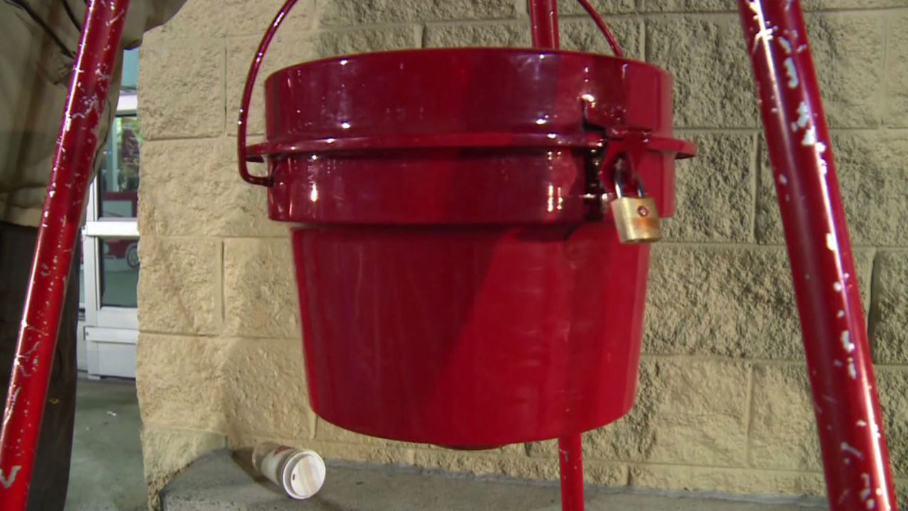 Salvation Army Kettle ~ Salvation army kettle theft could have dented already low