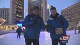 Larry Ramirez and the KSAT crew tries their feet at ice skating