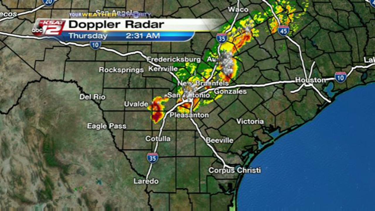Storms Bring Heavy Rain Wind Gusts To SA Overnight - South texas doppler radar