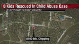 Bexar deputies find children chained in backyard, tied with dog leash