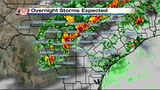 Latest Weather: Showers, storms possible overnight Friday