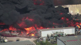 Hazardous materials released in Houston warehouse fire