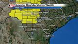 KSAT Weather: Hill Country under severe thunderstorm watch unitl 11 p.m.