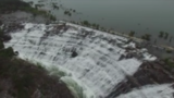 WATCH: Drone footage of Medina Lake Spillway overtopping