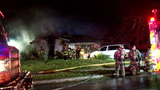 House destroyed in overnight fire