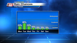 Rain chances increase, temperatures decrease for early part of week