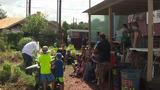 Urban farm teaching kids how to harvest, cook food