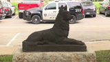Boy Scout builds hand-carved statue to honor K-9s