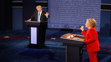 Clinton puts Trump on the defensive in combative debate