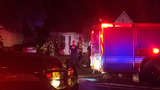 Woman OK after explosion, fire at her home