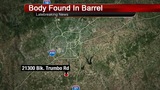Man arrested after body found in barrel in south Bexar County