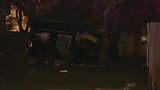Man in critical condition after crashing through backyard fence on North Side