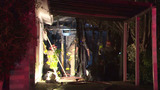 Man sleeping in shed escapes candle fire