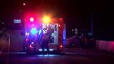 Driver hits guardrail, wall in crash