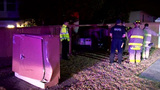 Police: Street race causes crash into fence, corner of home