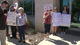 Protesters gather at Rep. Will Hurd's office for 4 days demanding town hall