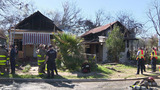 2 houses destroyed in suspicious fire in downtown SA, officials say