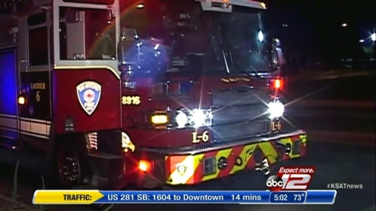 San Antonio Fire Truck Hits Car While Responding To Accident