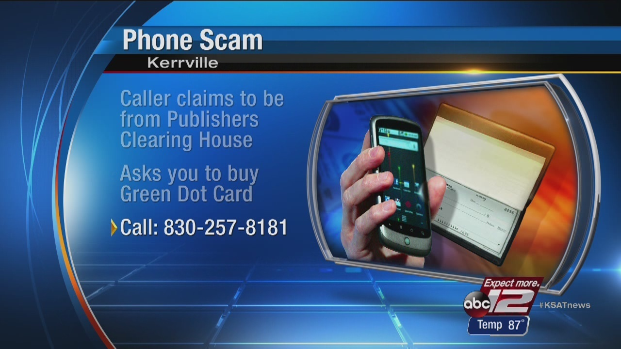 Kerrville PD warns of sweepstakes phone scam