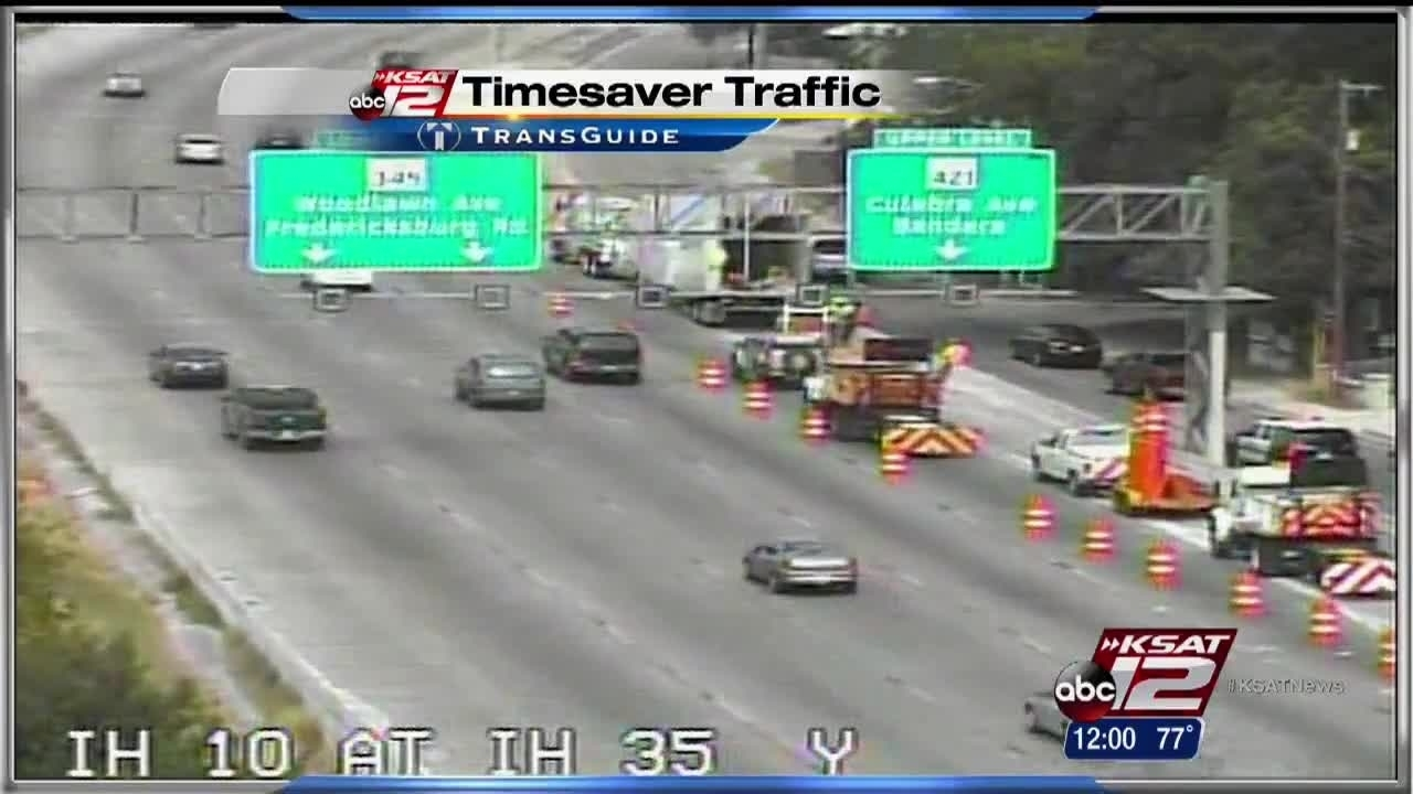 Downtown I-35 ramp scene of yet another big rig wreck