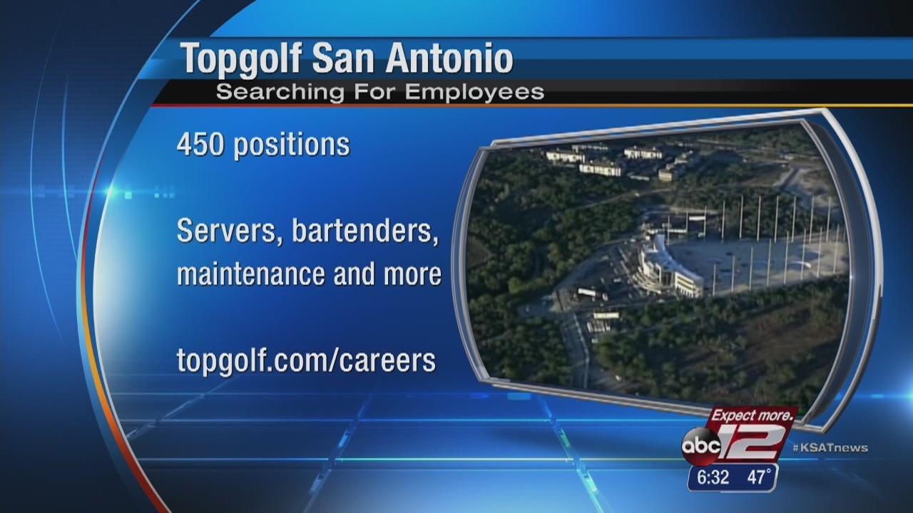 Topgolf Hiring 450 For New San Antonio Location