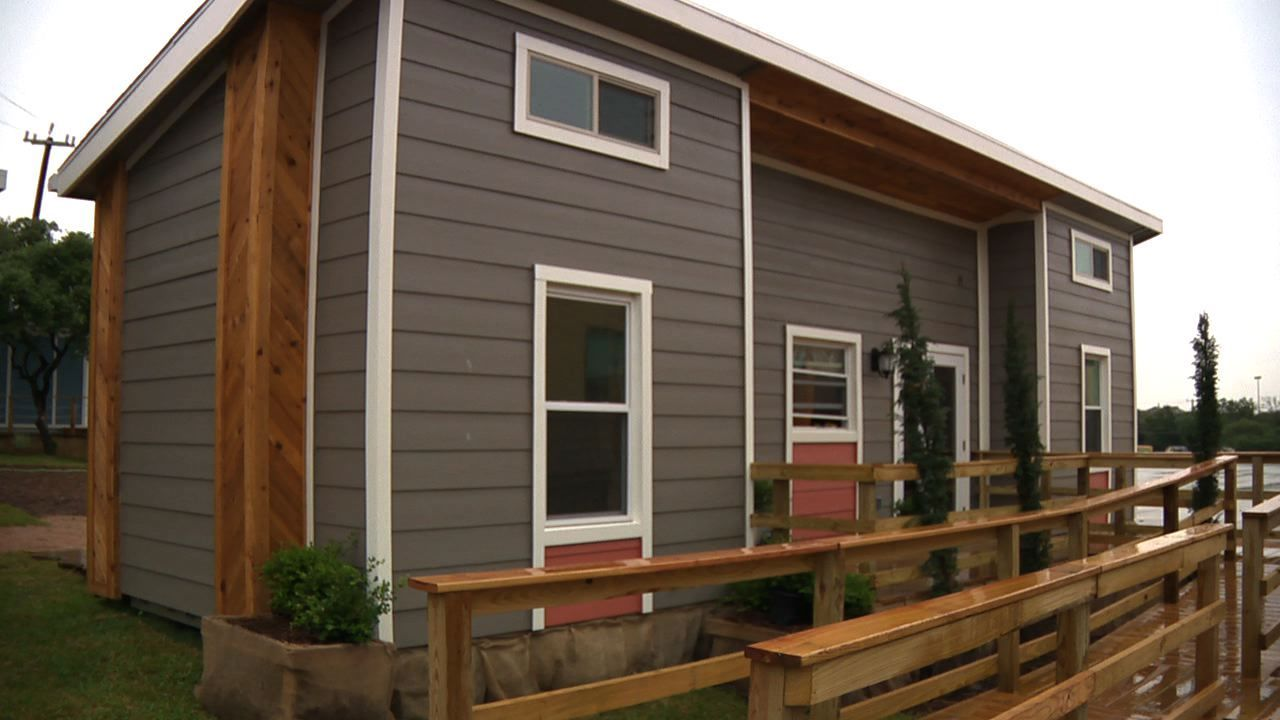 Warren students build homes from shipping containers - Houston container homes ...