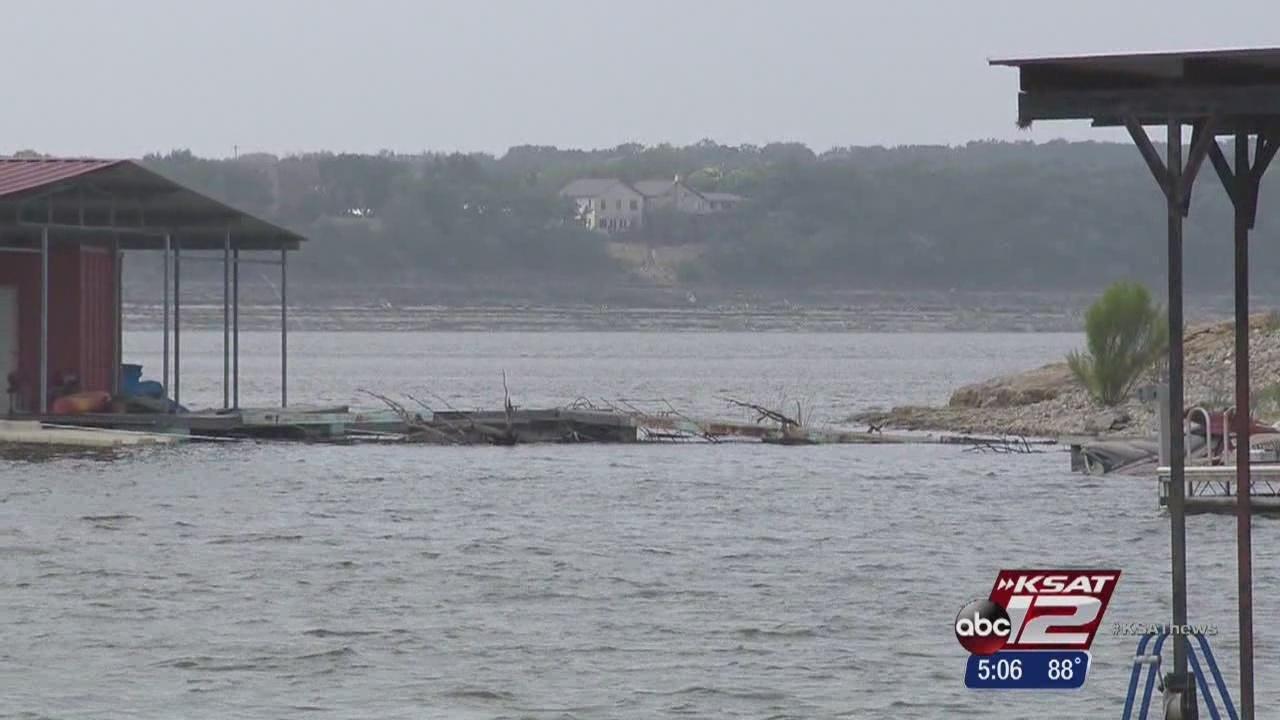 Medina lake level rising due to storms for Medina lake fishing