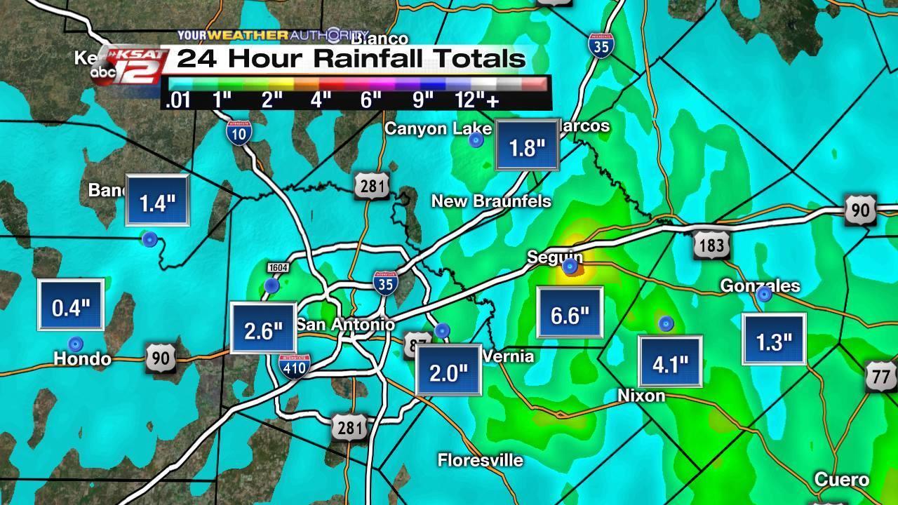 Heavy Rains Flooding Strike Parts Of San Antonio South Texas