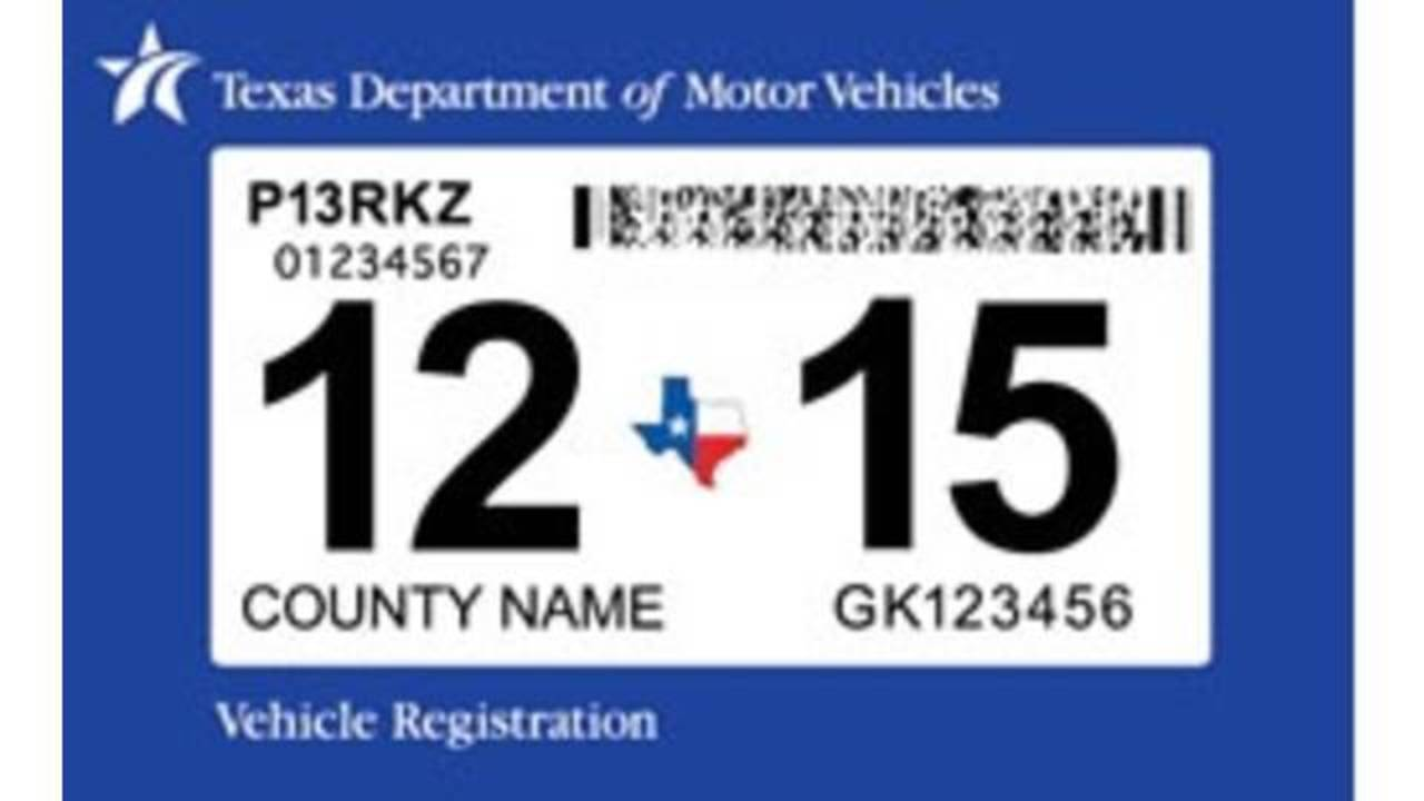 Texas car state inspection sticker
