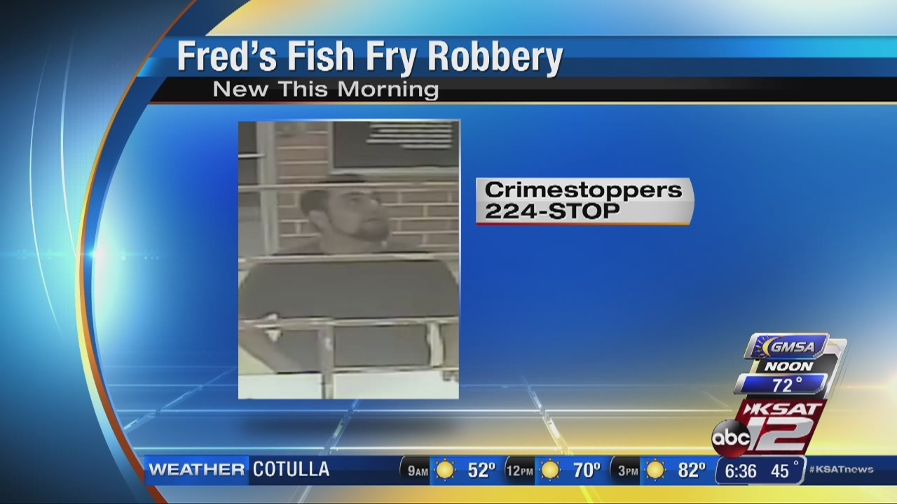 Crime stoppers looking for january robbery suspect for Fred s fish fry