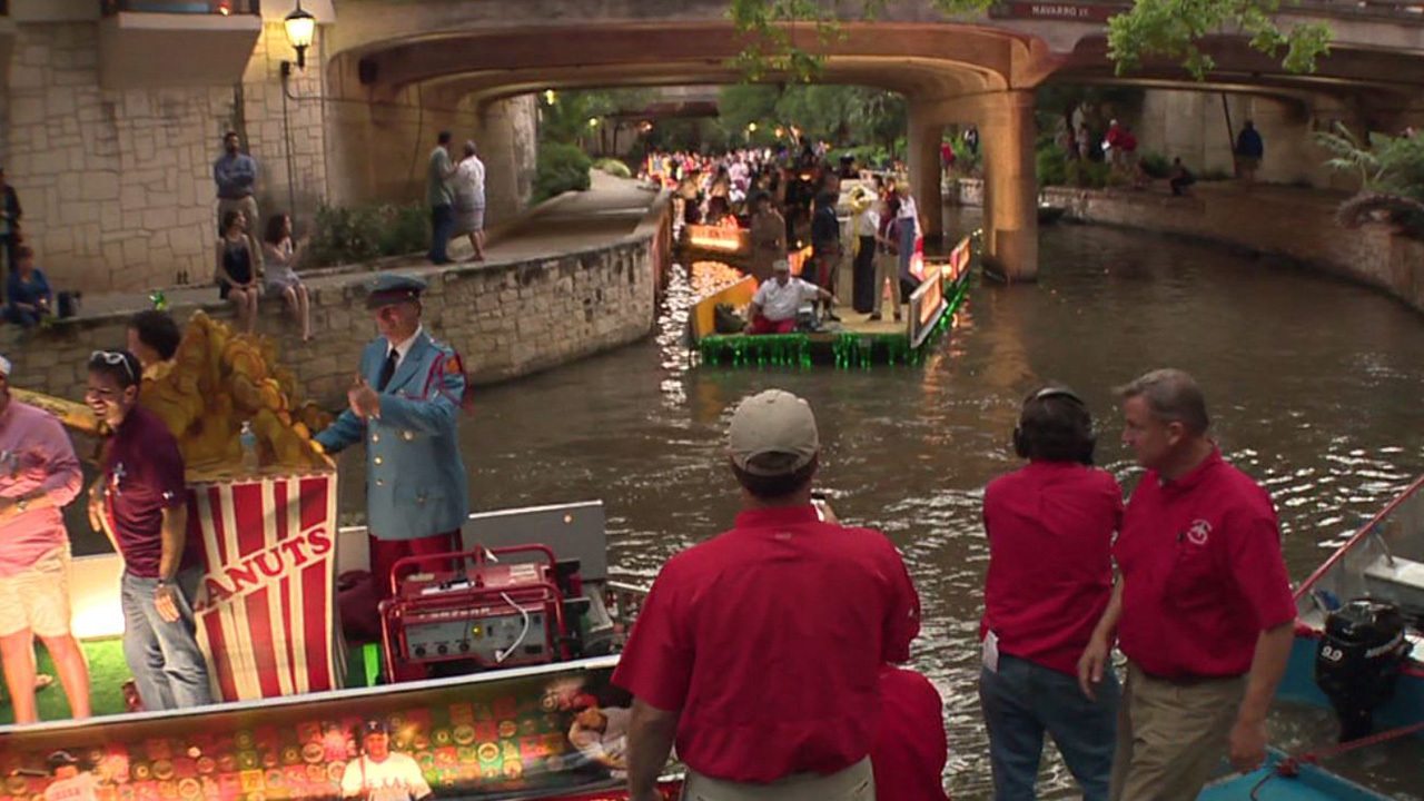 Only Confetti Rains Down At 2016 Texas Cavaliers River Parade