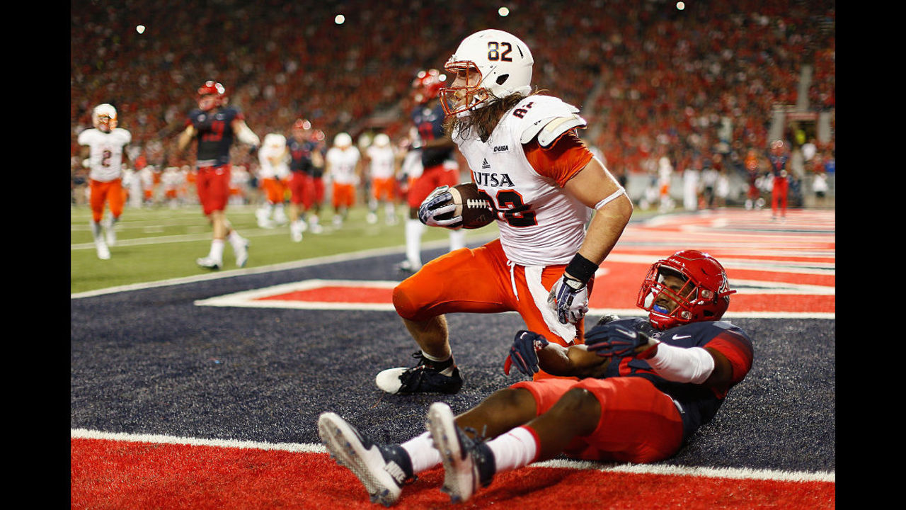 Utsa Tight End Makes History First Roadrunner Drafted By Nfl