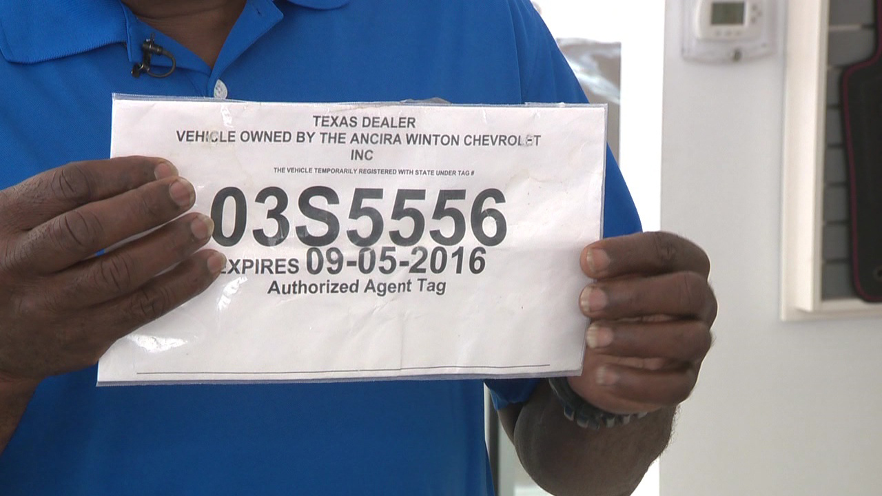 Car Dealer Temporary Plates
