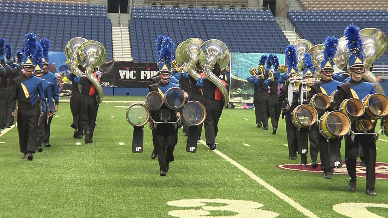 high school bands battle for music honors at the bands of