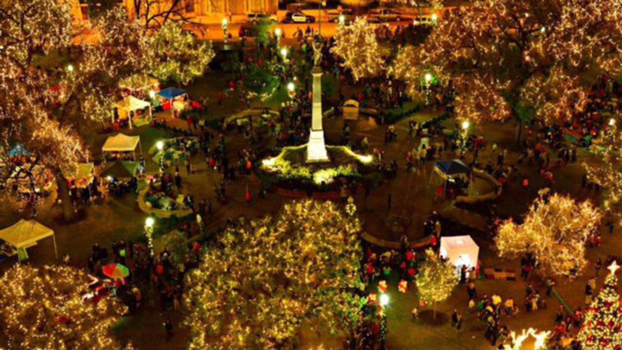 Annual holiday lighting at Travis Park features 250,000 lights