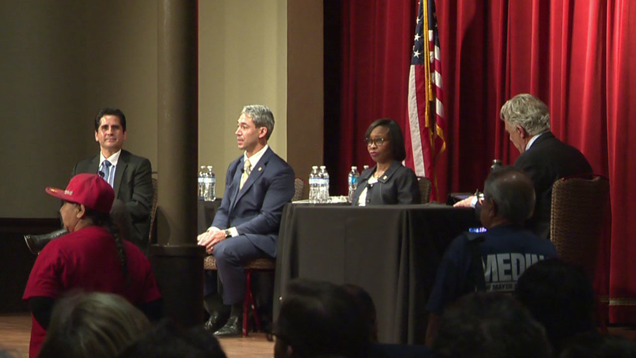 Mayoral candidates tackle teen issues
